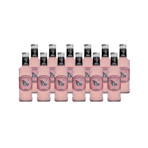 Bebida soda rosa